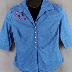 Jonathan Martin Top Shirt Size Medium Blue Women